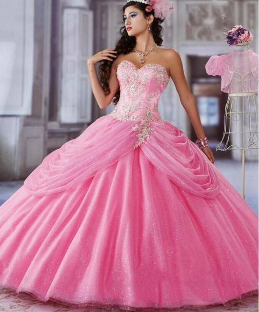 New Arrival Ball Gown Quinceanera Dresses Peach 2017 vestidos de 15 anos With Jacket Sweet 16 Dresses Beading For 15 Pleat M1211