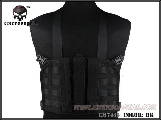 EMERSON MP7 Tactical Chest Rig Tactical Vest Airsoft Paintball Military Army Combat Gear Black EM7445