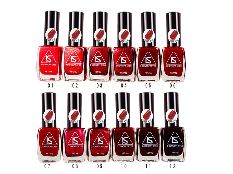 15ml 12colors red Series vanish vernis lacquer nails art redness paint cheap liquid quickly dry nail polish