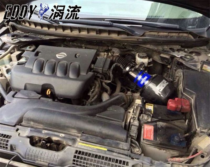Fit For Nissan Teana 2.3 2.5 Fine Quality China Brand EDDYSTAR EDDY CF-A Carbon Fiber Cold Air Intake System Air Filter
