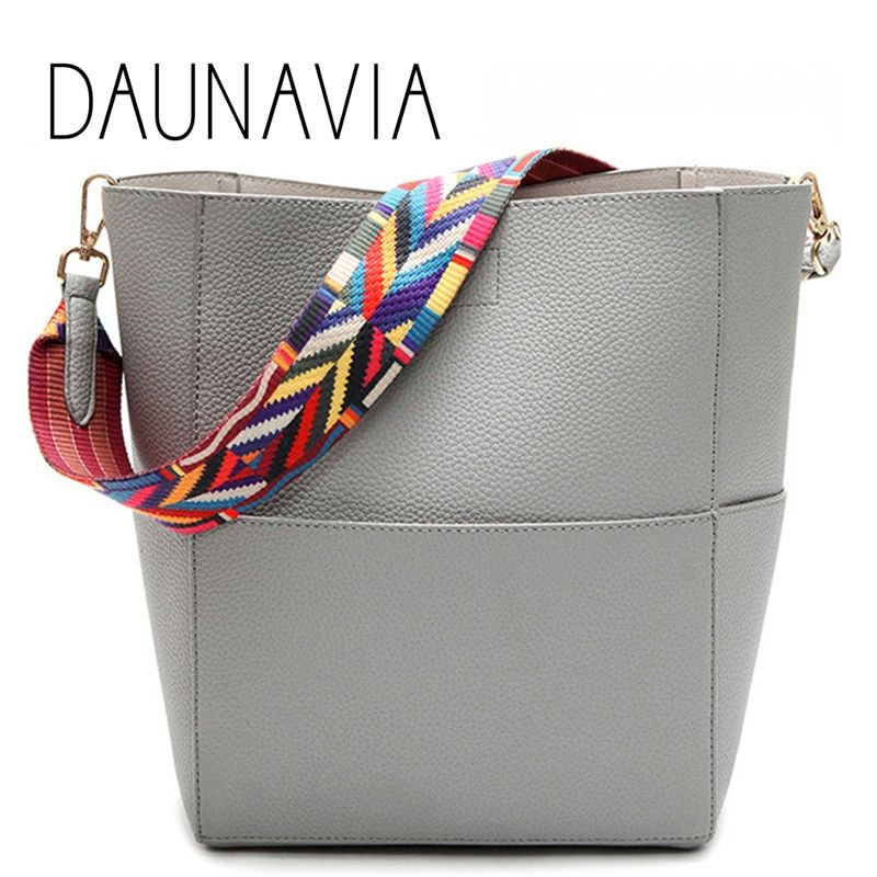DAUNAVIA Brand Luxury Designer women bag PU Leather Handbags with Strap Shoulder bag Handbag Large Capacity Cross body pockets