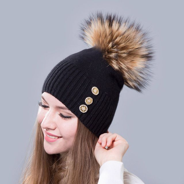 skullies beanies women's hats Female hat winter Knitted wool warm fashion elastic Hezi Mao Maoqiu Europe wholesale selling hot