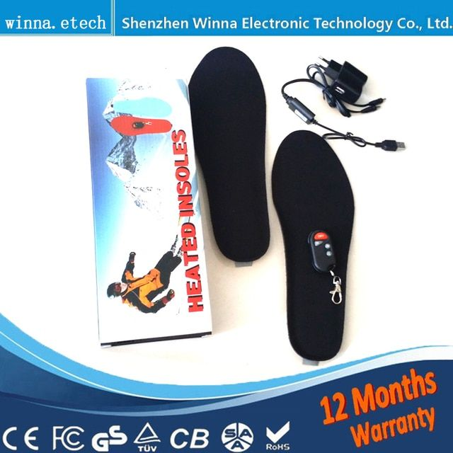 Electrically Heated insoles with wireless Women insoles remote control insoles outdoor Skiing mountain camping pad FREE SHIPPING