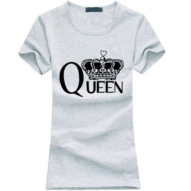 Fashion queen Letters print women t-shirt 2018 summer funny Cotton Slim Tee shirt Femme harajuku Hipster brand kawaii punk tops