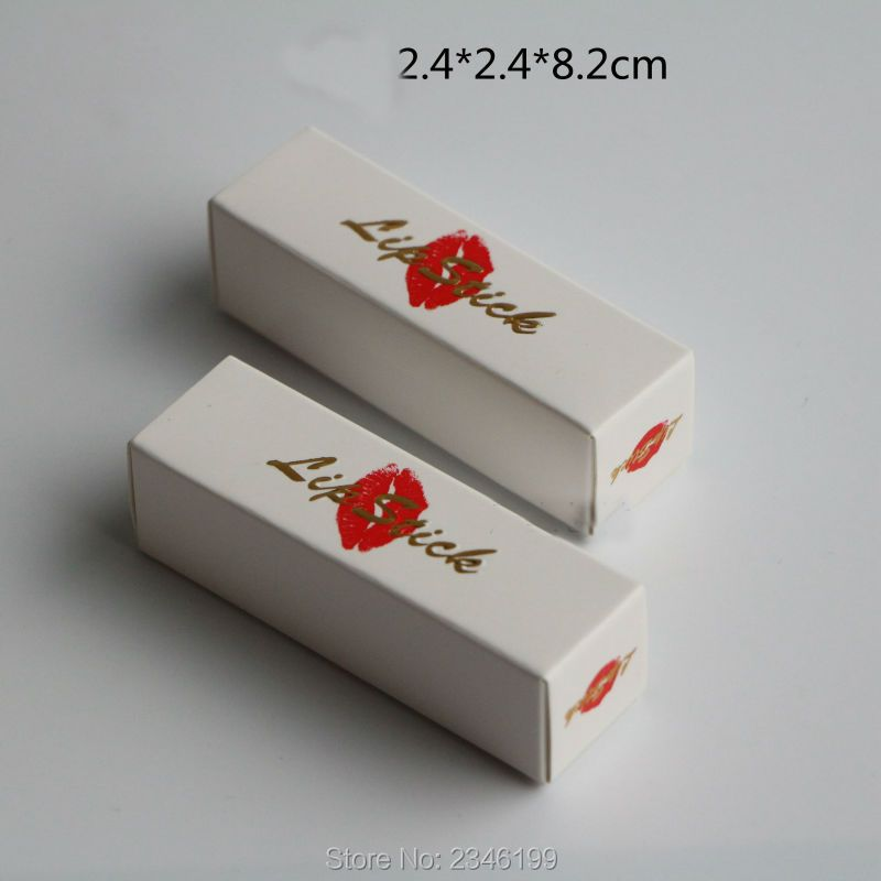 100pcs/lot High-end Packaging Box for Lip Balm Tube,  White Lipstick Tube Packing
