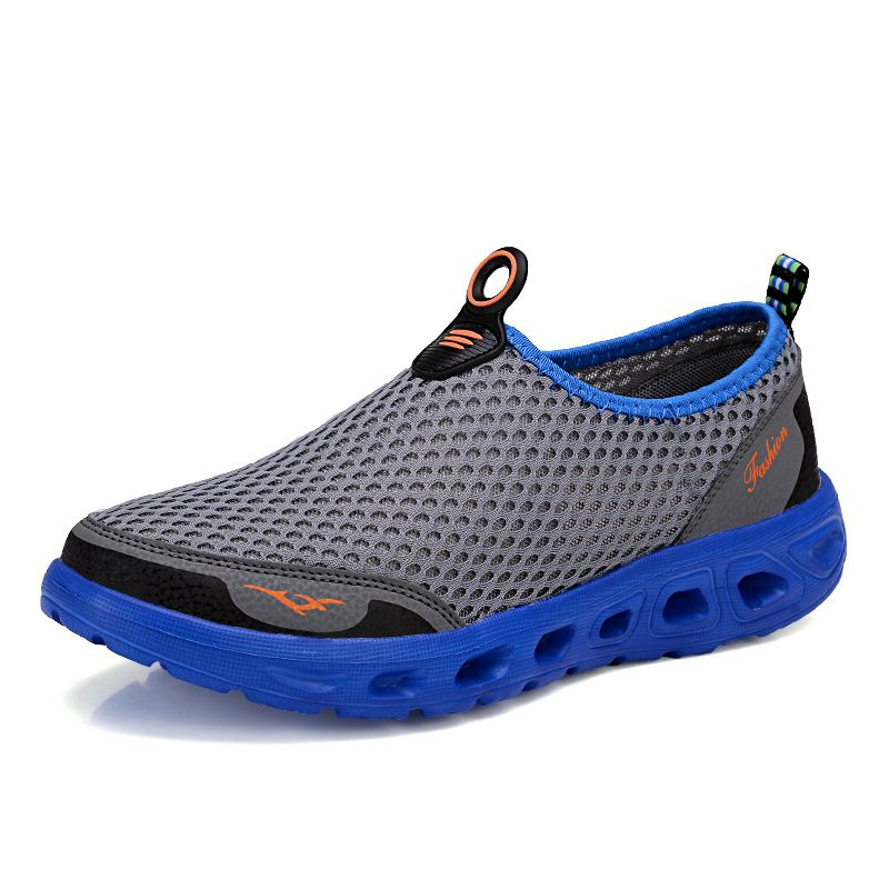 Men's Outdoor Summer Slip-On Aqua Shoes Li Nin Anti-Slip Mesh Breathable Simple Non-Slip Sports Sneakers