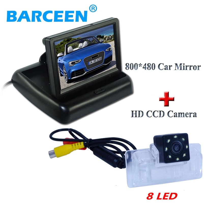 "4.3""car display monitor  with original car rearview camera rainproof 8 led lights fit for Nissan Altima/TEANA /Sylphy"