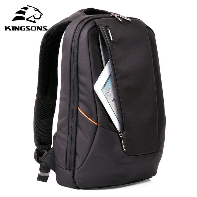 Kingsons Candy Black Laptop Backpack Man Daily Rucksack Travel Bag School Bags 14 inch  Women Bagpack Mochila Feminina