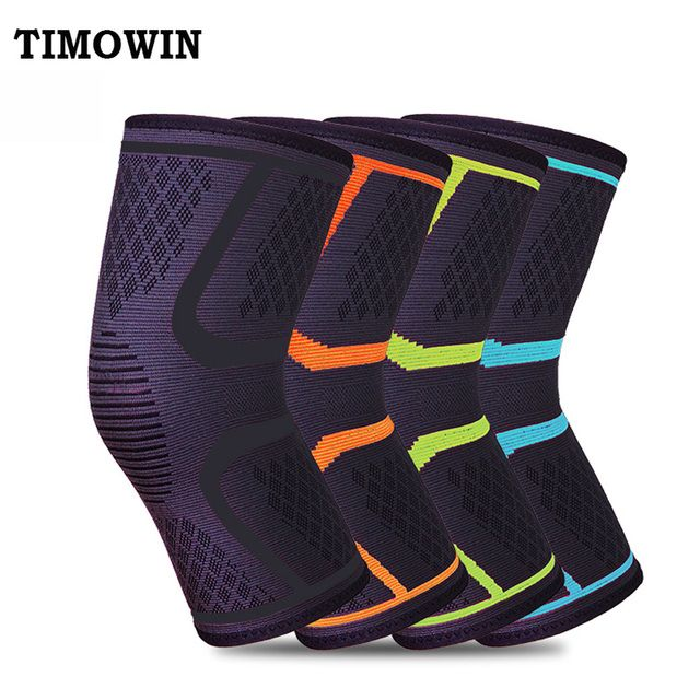1 Pcs Knee Support Protect TIMOWIN Brand Fitness Running Cycling Braces Kneepad Elastic Nylon Sport Gym Knee Pad Warm Sleeve
