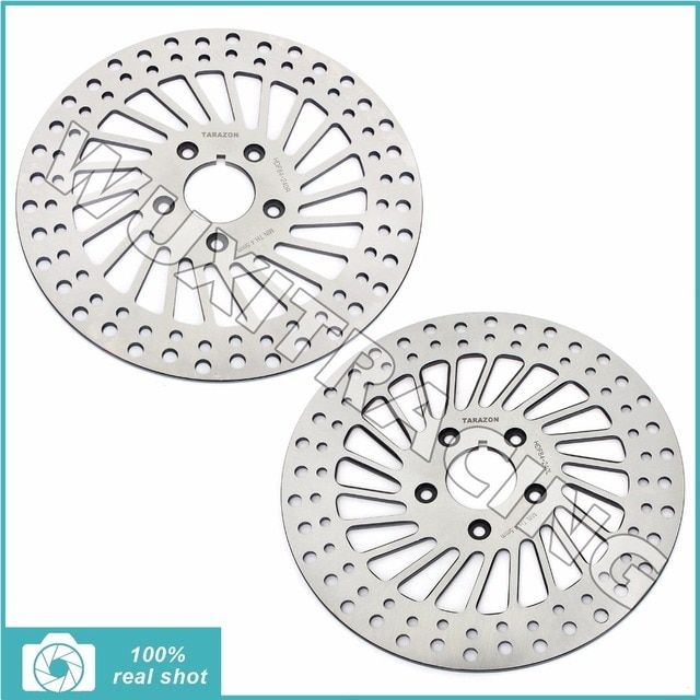 "Spoke Front Brake Disc Rotor 11.5"" Speedometer hole for Harley-Davidson FXRS FXRT FLHTC Touring Electra Glide Low Rider"