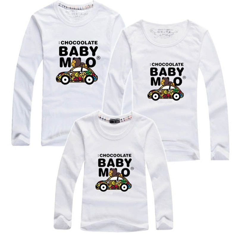 2019 autumn brand children t-shirts matching mother daughter clothes family look clothing father and son outfits plus size