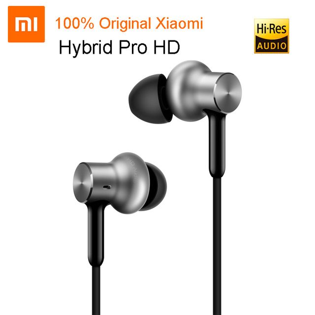 100% Original Mi Xiaomi Hybrid Pro HD In-Ear Earphones With Microphone Wire Control For Samsung Huawei For Android Phones
