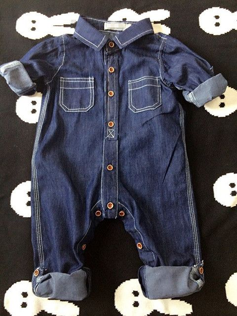 Baby boys/girls clothes kids jumpsuit trousers 2016 fashion children's clothing spring autumn cotton tooling baby denim rompers