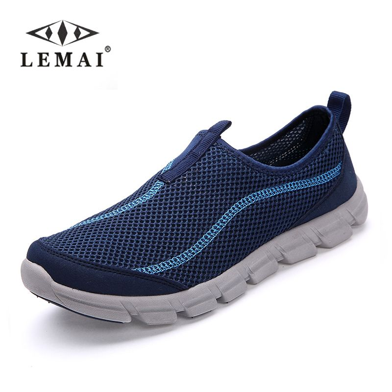 LEMAI 2019 New Men Casual Shoes, Summer Mesh For Men,Super Light Flats Shoes, Foot Wrapping Big Size #36-44