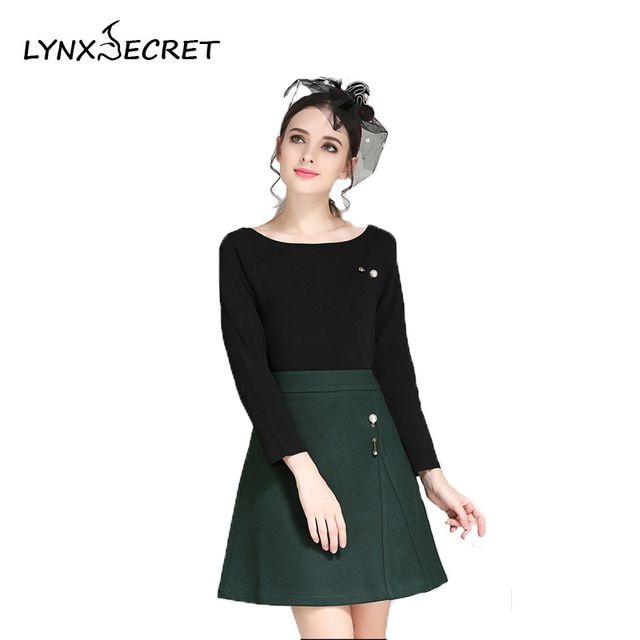 Women Autumn Winter Long-sleeve dresses O-Neck zippers New Style Solid A-line Knee-Length Slim Brief Casual dress For Female