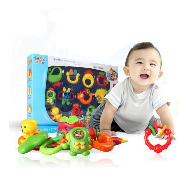 12pcs/lot Baby Mobile Musical Bed Stroller Playing Crib Bed Hanging Bell Baby Toys for Tots Baby Rattles for Kids