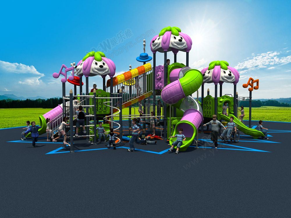 2017NEW outdoor playground equipment,amusement play structure for park,large combined playground slide for children