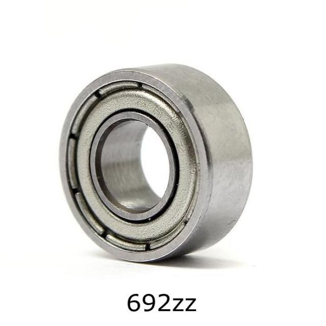 10pcs 2*6*3mm Deep Groove Ball Bearing 692ZZ Bearing Steel Sealed Double Shielded Dustproof for Instrument Electrical
