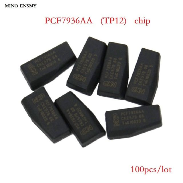 PCF7936AA Blank Carbon Car Key Chips,Original ID46  TP12  Unlock Ceramic Chip,100pcs/lot,Free shipping.