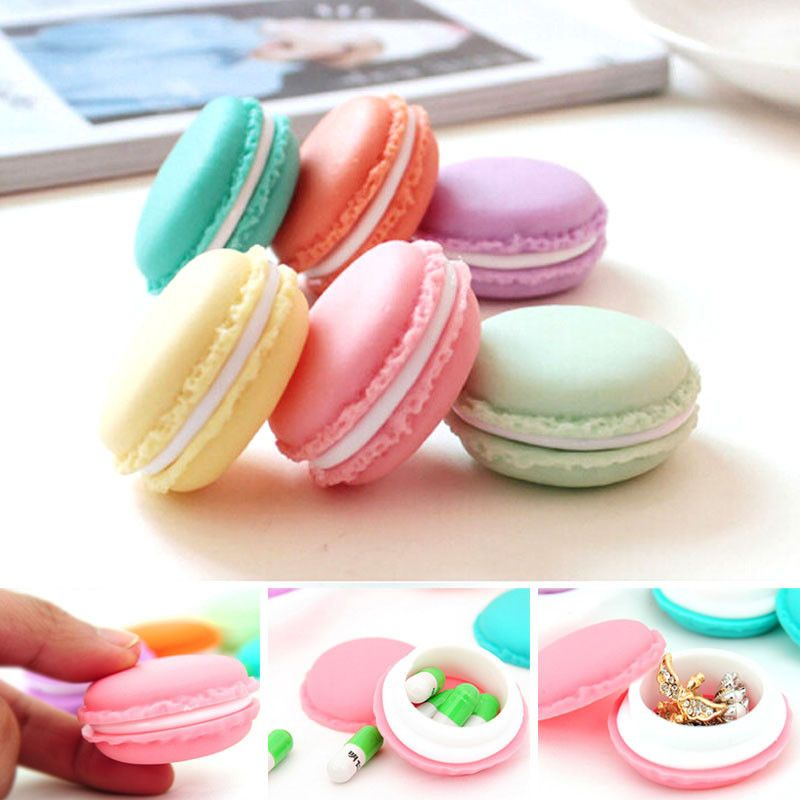 New Qualified 6 PCS Mini Earphone SD Card Macarons Bag Storage Box Case Carrying Pouch  Levert Dropship dig6922