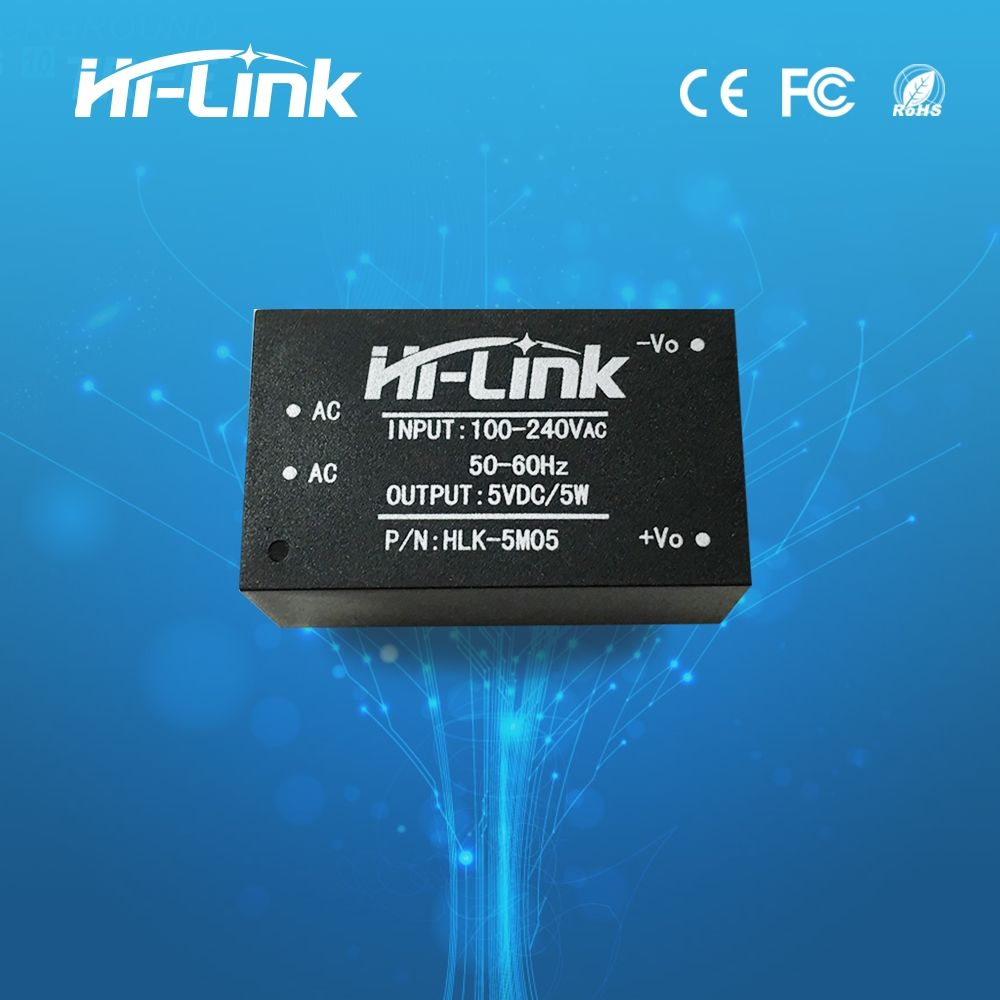 10PCS/LOT 220v 5V AC-DC isolated power supply module, HLK-5M05, switching step-down 5w power module JINYUSHI STOCK