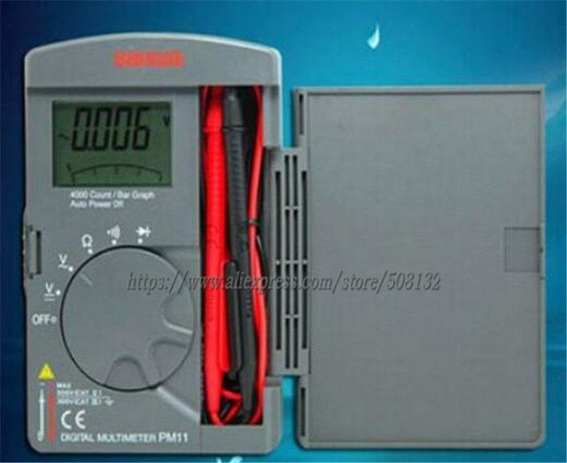 Digital Multimeters Pocket Type ,Tough but compact DMM 4000 count!!NEW!!Free shipping!! Sanwa PM11