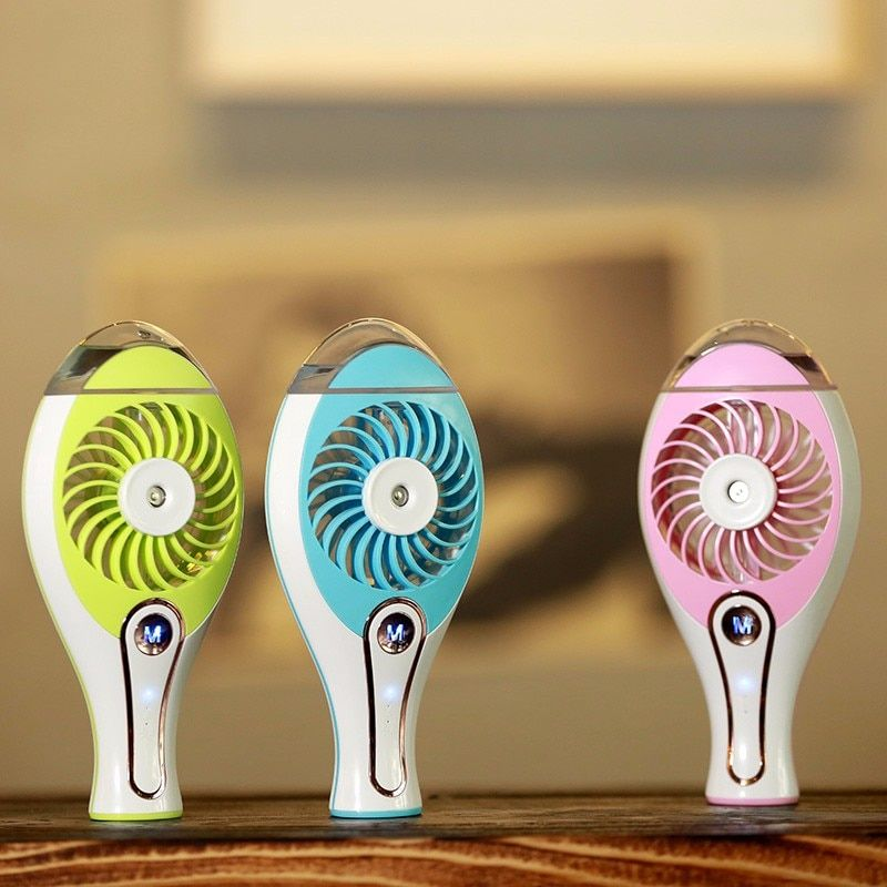 New Summer Humidifier USB Fan Mini Air Conditioner Rechargeable Water Mist Fan With Lithium Battery Laptop Car Air Cooling Fan