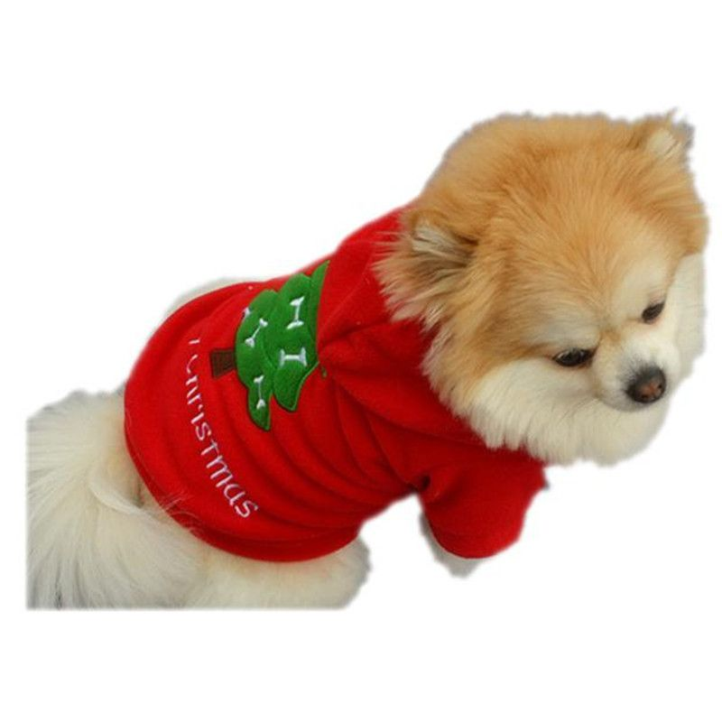 Christmas Pet Puppy Dog Clothes Santa Claus Costume Outwear Thick Coat Apparel Nov2