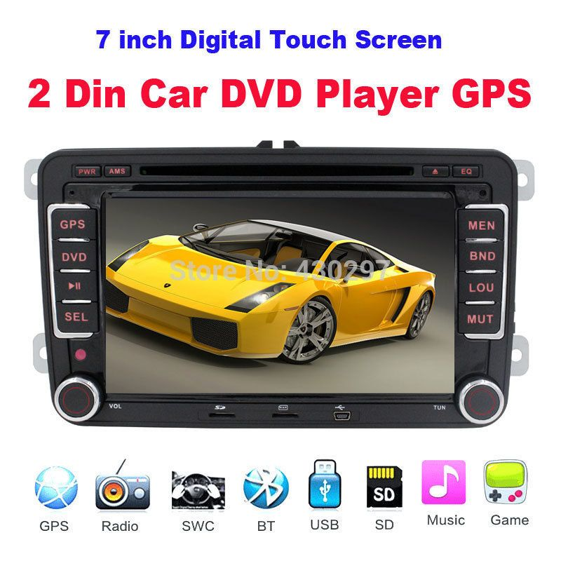 2Din 7 Inch Car DVD GPS for VW Skoda Golf Bora DVD Jetta Tiguan Polo Radio Car Stereo Video Player Navi USB GPS  Free Map Camera