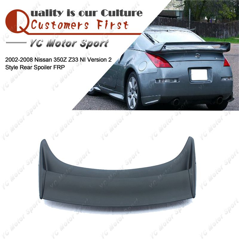 Car Accessories FRP Fiber Glass NI Version 2 Style Rear Spoiler Fit For 2002-2008 350Z Z33 Trunk Spoiler Wing