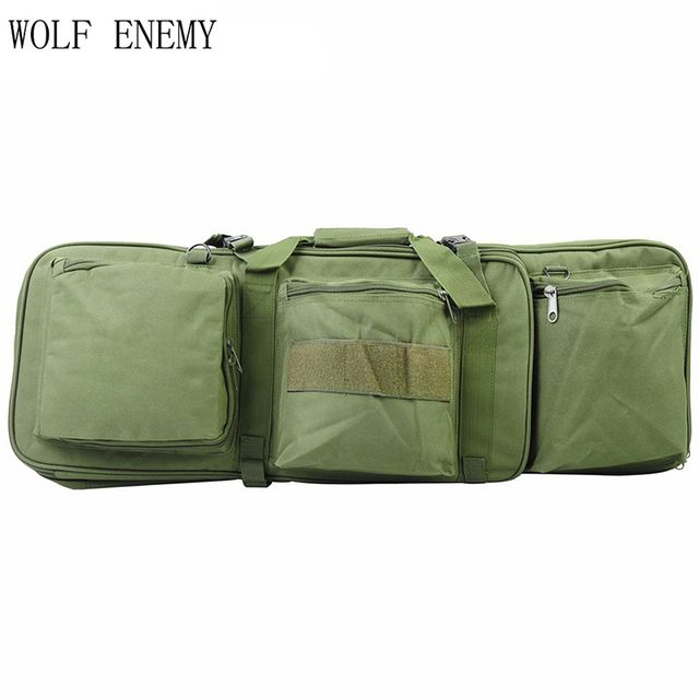 Airsoft Tactical 85CM Dual Rifle Bag with Shoulder Strap for M4 Series High Density Nylon Hunting Military Gun Bag Case