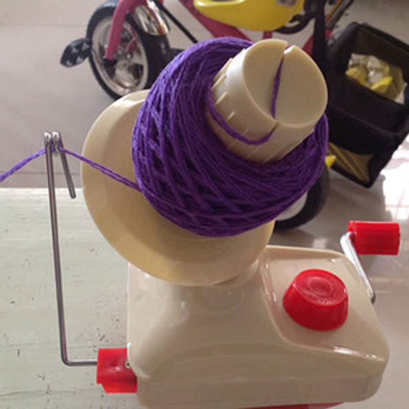 Hand Operated Wool Winder Holder String Ball Coiler for Yarn Fiber Winding Machine Yarn Winder Sewing Accessories