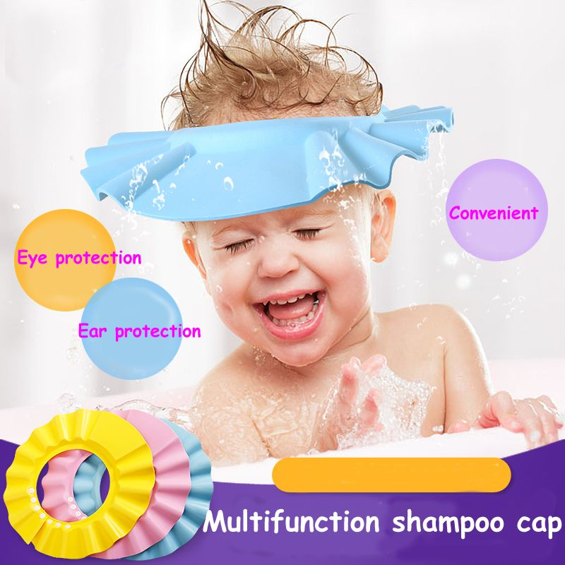 2016 new Resizable Baby Shower Cap Shield Direct Visor Caps Shampoo Caps For Children Baby Hat Hair Shampoo Visor for Swimming