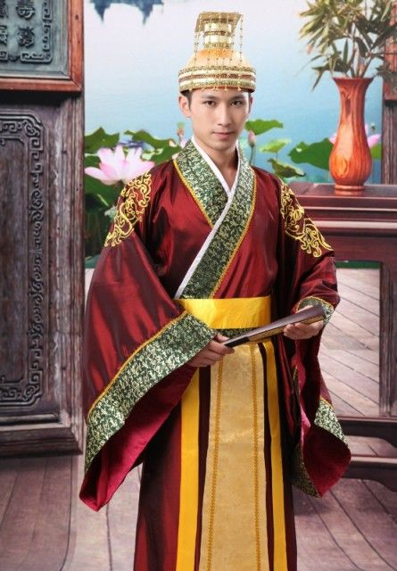 Folk Dance Chinese Man Han Clothing Emperor Prince Show Cosplay Suit Costume Minister Traditional Ancient Dress Free Shipping