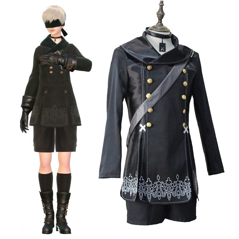 Hot Games NieR Automata 9S Cosplay Halloween Costumes Men Fancy Party Outfits Coat YoRHa No. 9 Type S