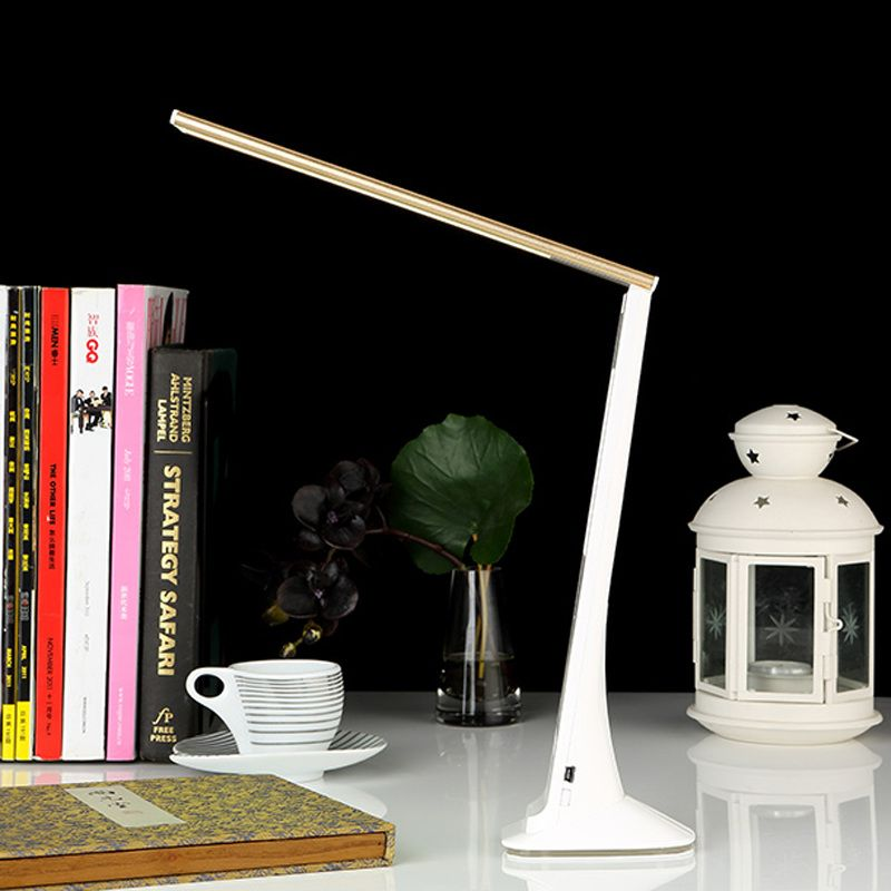 Dimmable LED Desk Lamp USB Table Lights Reading Study Lamps Touch clock Lighting Portable Rechargeable Fold Desk Light night