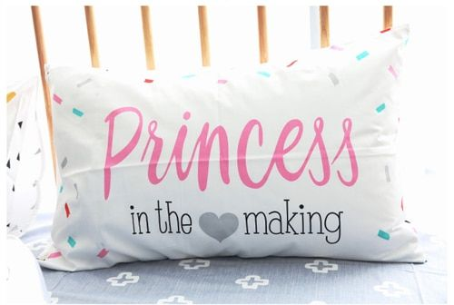 Kids Pink Princess Pillowcase 100% Cotton 48x74cm Lovely Pillow Cases No Inner Nordic Style Girls Gift Free Shipping 1pcs