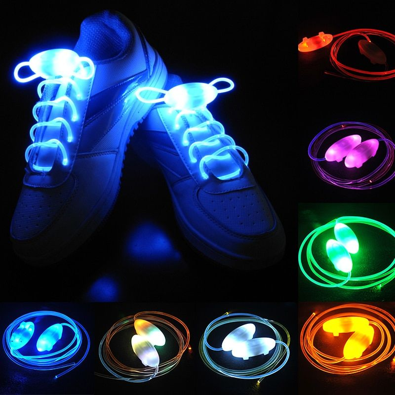 2Pair Colorful Glowing Sneakers Shoelaces Mens Womens LED Lighted Shoes Strings for Adults Fashion Girls Boys Luminous ShoeLaces