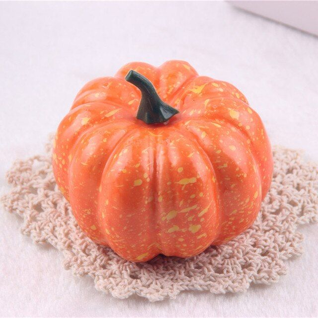 Big Realistic Fall Mini Artificial Pumpkins Foam Pumpkins 8.5cm Small Pumpkins Fake Foam Halloween Decorative Pumpkins p20