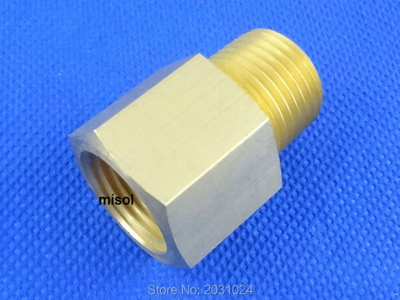 "Adaptor fitting 1/2"" BSP (DN15) male to 1/2"" NPT female, Brass"