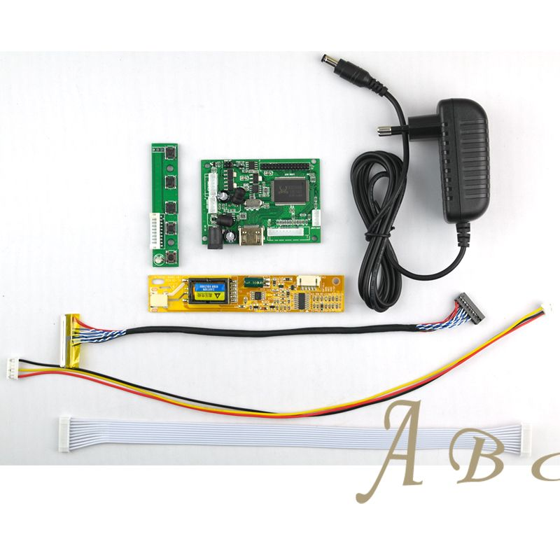5 Pcs HDMI Controller Board + Backlight Inverter + 30Pins Lvds Cable + Power Adapter Kits for 1280x800 1ch 6 bit TFT LCD Panel