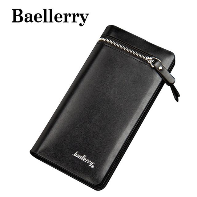 2018 Fashion Leather Men's Wallet Brand Men Long Wallets Zipper Coin Purse Wallet Clutch Style Bifold Purse Card Holder DB5720