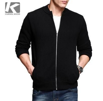 KUEGOU Men's Casual Thin Sweater,male Cardigans Knitted Sweater, kuegou Long knitted-wear 32048