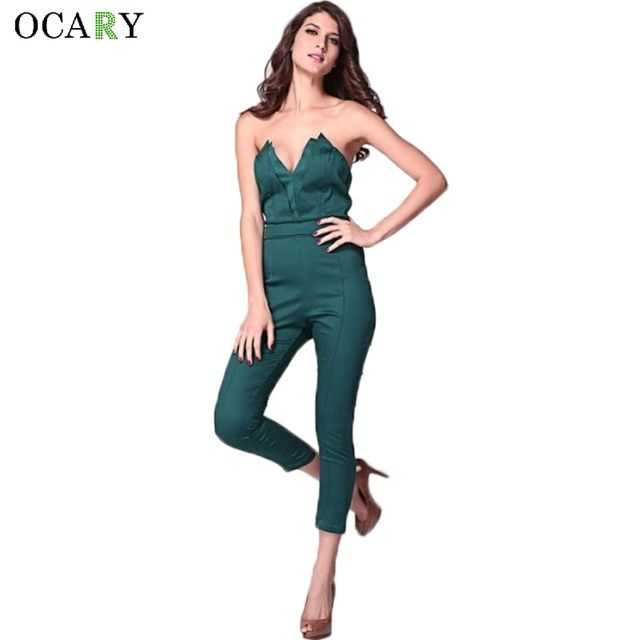 Sexy Ladies Off Shoulder Backless Jumpsuit Casual Bodycon Street Rompers Fashion Ruched Leotard Plus Size Combinaison Femme 2016