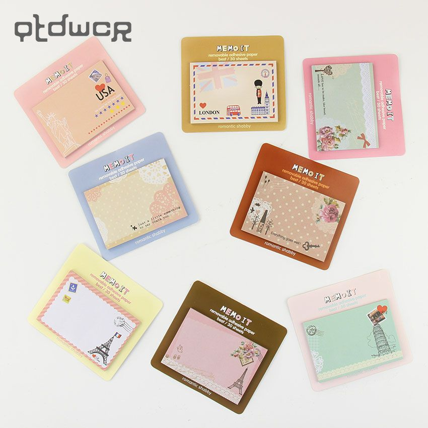 Korean Mini  Planner Diary Sticky Notes and Memo Pads Stationery Office Supplies