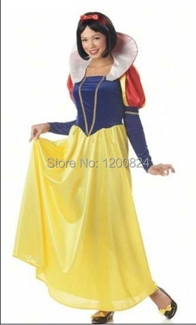 free shipping Adult Snow White Halloween Costume Sexy Snow White Costume Fantasia  Halloween Costumes For Women Princess Dress