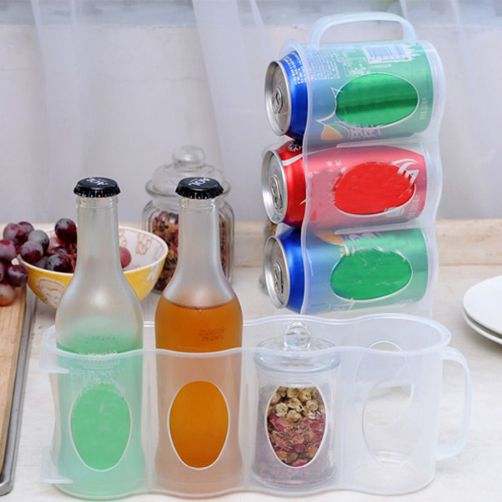kitchen organizer Refrigerator Storage Box Kitchen Accessories Beverage Can Space-saving Cans Finishing Four Case Organizer