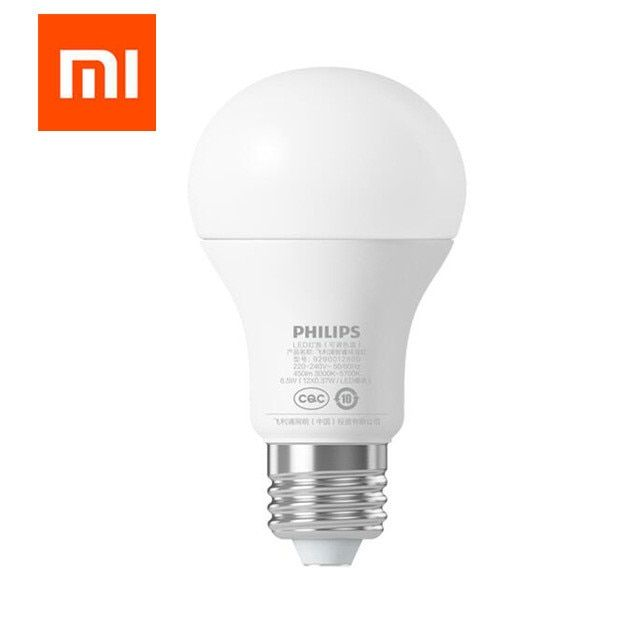 Original Xiaomi Mi Smart LED Bulb Wifi Remote Control Adjustable Brightness Eyecare Light Smart Bulb WHITE COLOR