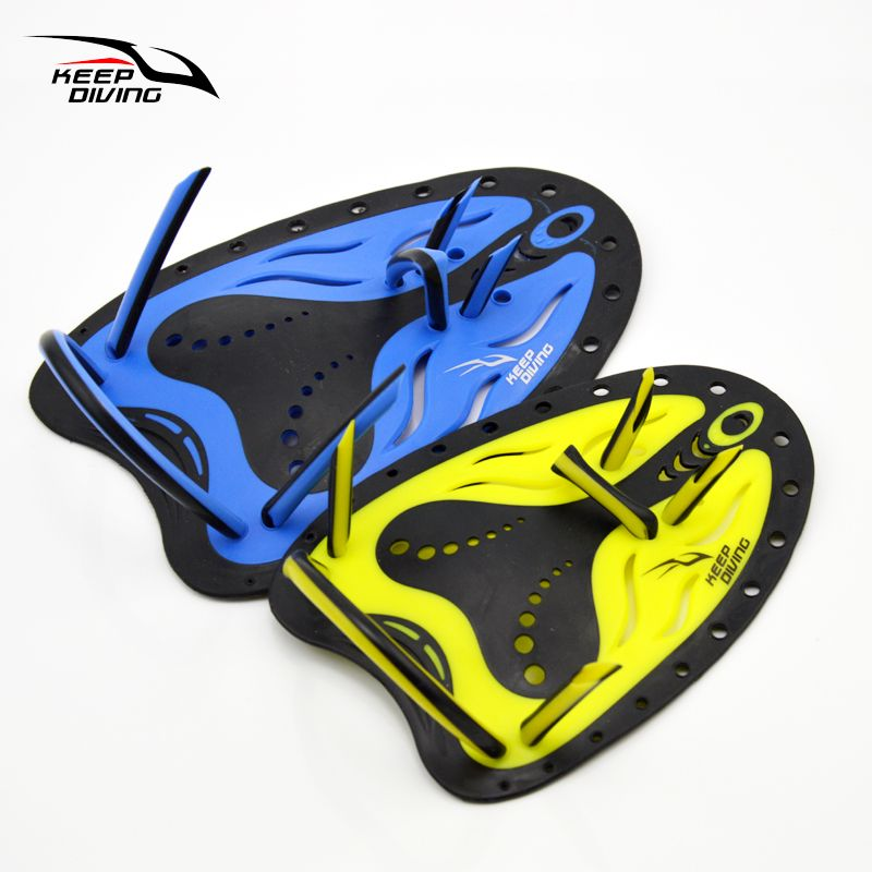 Professional Swimming Paddles Training Adjustable Silicone Hand Webbed Gloves Padel Fins Flippers For Men Women Kids Learn Gear