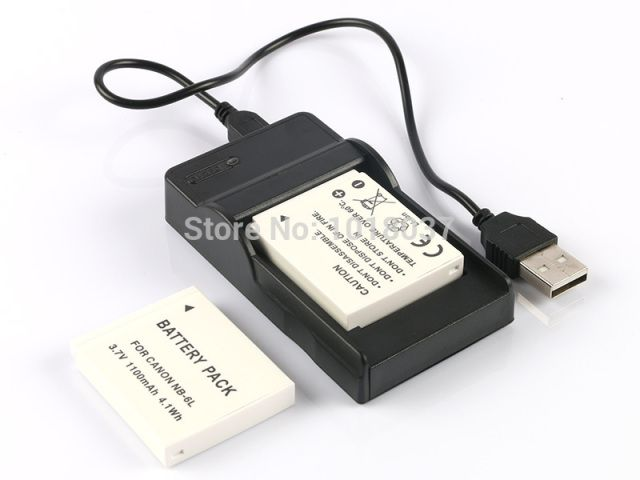 2PC NB-6L NB 6LH Rechargeable Camera Digital Battery + Micro USB Charger For Canon PowerShot SX280 SX510 SX600 SX700 HS